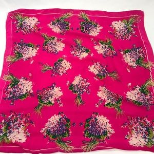 Hand Rolled Floral Silk Scarf